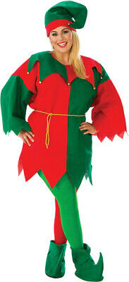 Red Green Costume (Red Green Elf Set Tunic Womens Adult Costume Plus Size NEW)