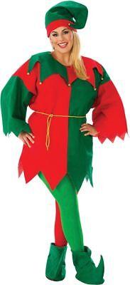 Mann Elfe Kostüm (Rubies Weihnachtsmann Elfen Lang Ärmel Wirtschaft Erwachsene Damen Weihnachten)