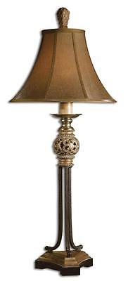 - kOrnate GOLD SCROLL Iron Buffet Lamp Black Antique Open Classic Table