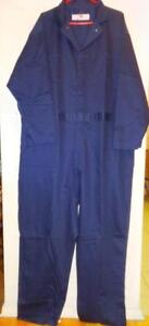 NEW 2XL 54R MENS Overalls XXL Navy blue Mechanics JUMPSUIT Suit Working Heavy Denim NWT Brand New