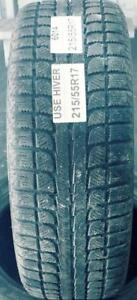 PNEUS HIVER USAGÉS / USED WINTER TIRES 215/55R17 21555R17 MAXTREK TREK M7 (2 DE DISPONIBLES)