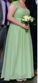 Sage/apple green brisdesmaid/prom dress size 14