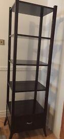 Mahogany shelf with drawer