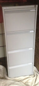 filing cabinet Bisley grey 4 drawers with hanger file