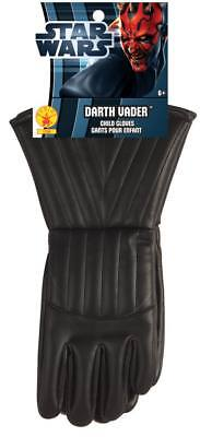 Jungen Kind Star Wars Schwarz Darth Vader Stulpe Handschuhe Kostüm Zubehör