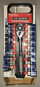 Brand New 1/2 inch Socket Set with Ratchet