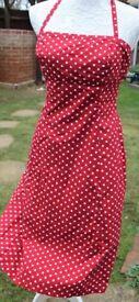 Beautiful 1950's type polka dot dress from Warehouse UK10