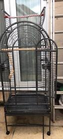 Large parrot cage and toys