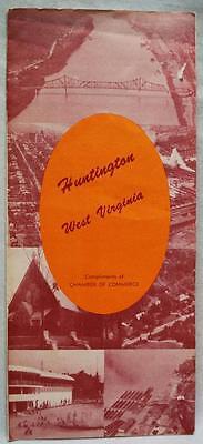 HUNTINGTON WEST VIRGINIA SOUVENIR TOURISM INFORMATION BROCHURE GUIDE 1950s