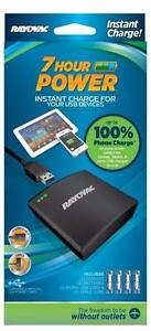 NEW-RAYOVAC 7-HOUR INSTANT CHARGE FOR YOUR USB DEVICES