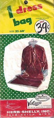Vis Queen 1 Dress Bag VINTAGE New In Package By Herb Shelly Inc Size 25-60 Inch - $4.99