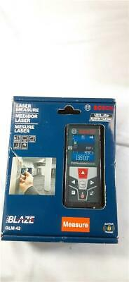 New Bosch Glm42 Laser Measure Rotating Color Screen 135 Foot Range