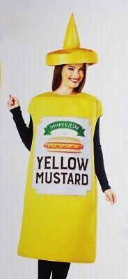 Mens Womens MUSTARD Bottle Halloween Costume Condiment Food S M L XL Purim NEW](Mustard Halloween Costume)