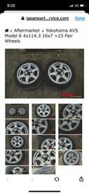 5x114 16inch rare Japan alloys