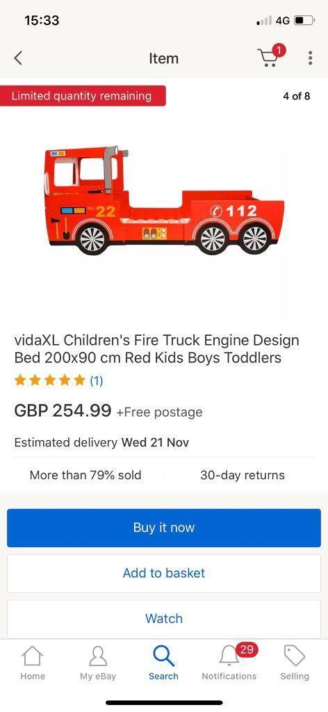 Fire engine truck bed single open to offers | in Pontypridd, Rhondda ...