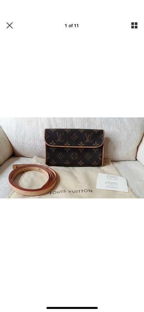 5adbde8a6e21 Authentic Louis Vuitton Monogram Pochette Florentine Waist Bum Bag ...