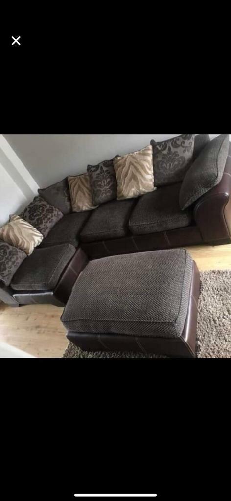 Cool Corner Sofa Half Leather Half Fabric In Darlington County Durham Gumtree Ibusinesslaw Wood Chair Design Ideas Ibusinesslaworg