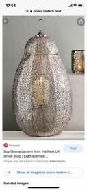 Next Oriana floor lamp, light shade & lantern