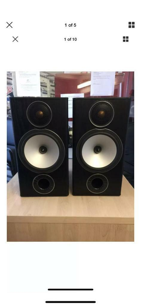 MONITOR AUDIO BRONZE BX2 BLACK SPEAKERS WITH APPROX 10 METER CABLE | in  Amersham, Buckinghamshire | Gumtree