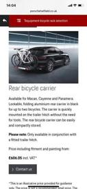 Porsche rear mounted bike carrier
