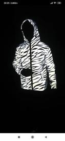 Light reflector waterproof windproof zebra jacket