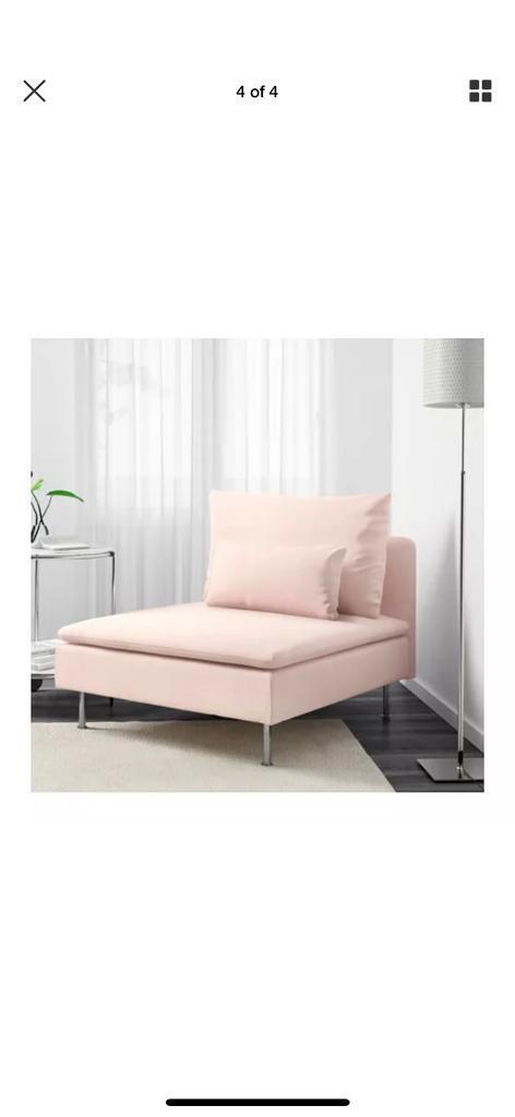 Ikea Pink Sofa Chair One Seater