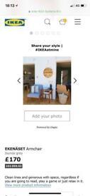 Ikea Ekenaset Grey Chair / Armchair