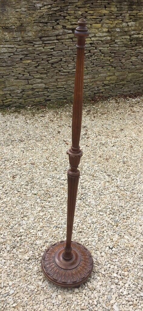 Vintage Wood Floor Lamp Stand In Bampton Oxfordshire