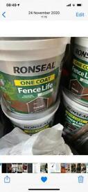 Ronseal Fence Paint. Large 9Litre Tub