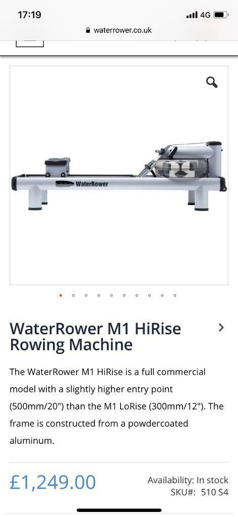 Water Rower M1 High Rise | in Sparkhill, West Midlands | Gumtree