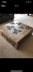 Habitat furniture/table/wood/tv unit/ shelving unit/showhome/interior design