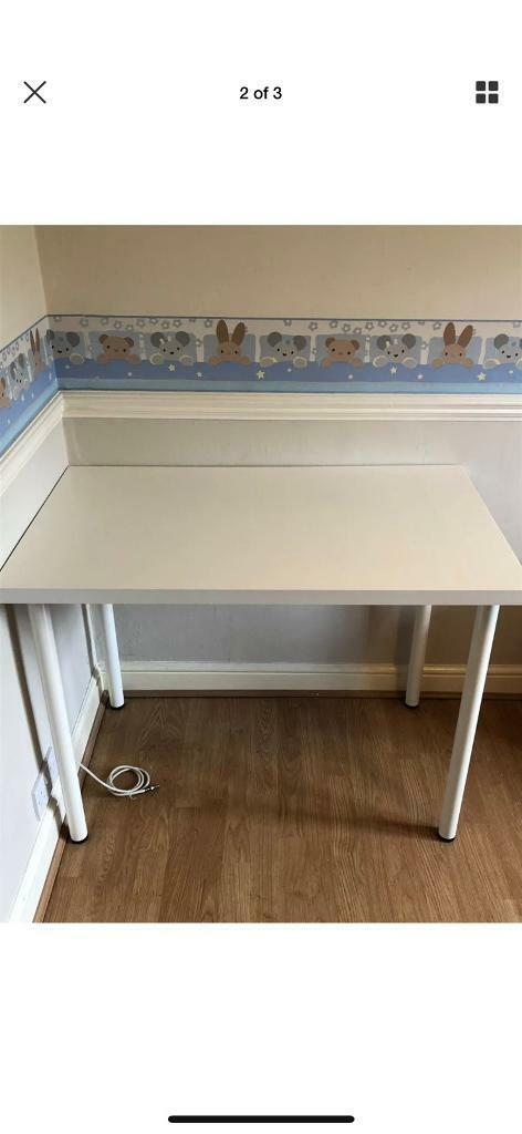 White Compact Office Desk 120cm X 60cm