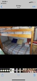 Wooden bunkbeds with matresses