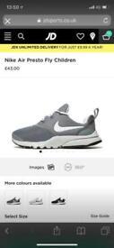 Nike presto grey size 2.5 junior