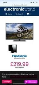 Panasonic 39 inch slim design television 4 months old perfect working order OFFERS????