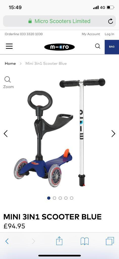Micro scooter (Blue)
