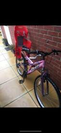 RockFox dual suspension bike - with child carrier