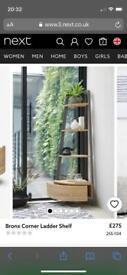 Looking for/wanted - NEXT corner ladder shelf in LIGHT oak. Furniture. Storage.