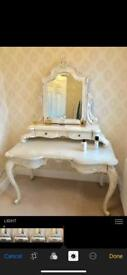 Beautiful French Dresser, tall mirror and side table