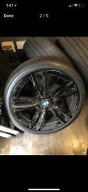 "Genuine 19"" Bmw alloy wheels gold black"
