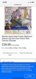 Frozen dress up bedroom set - brand new in box