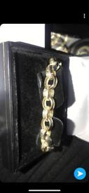 gold belcher bracelet