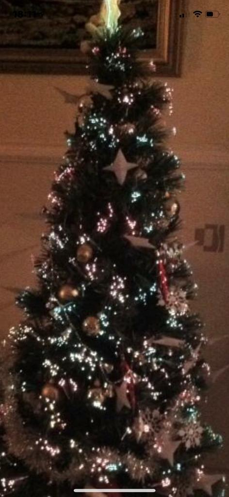 Xmas Tree With Light Built On Golden Stand 6ft In Southside Glasgow Gumtree