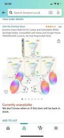Enshine Gu10 smart bulbs