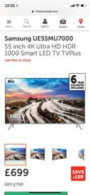 Samsung smart 4K 55inch led tv