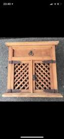 Selling this antique solid wood Indonesian TV / Storage Side Unit in Excellent Original Condition