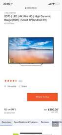 Sony Bravia 4K smart tv