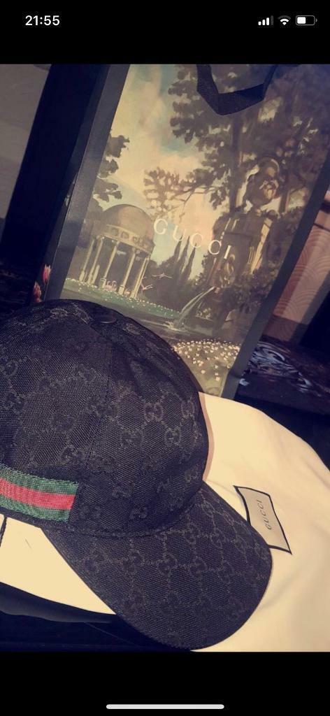 GUCCI - Original GG canvas baseball hat with Web  677163db255
