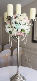 For sale 6x pre decorated candleabra's- large- wedding/event