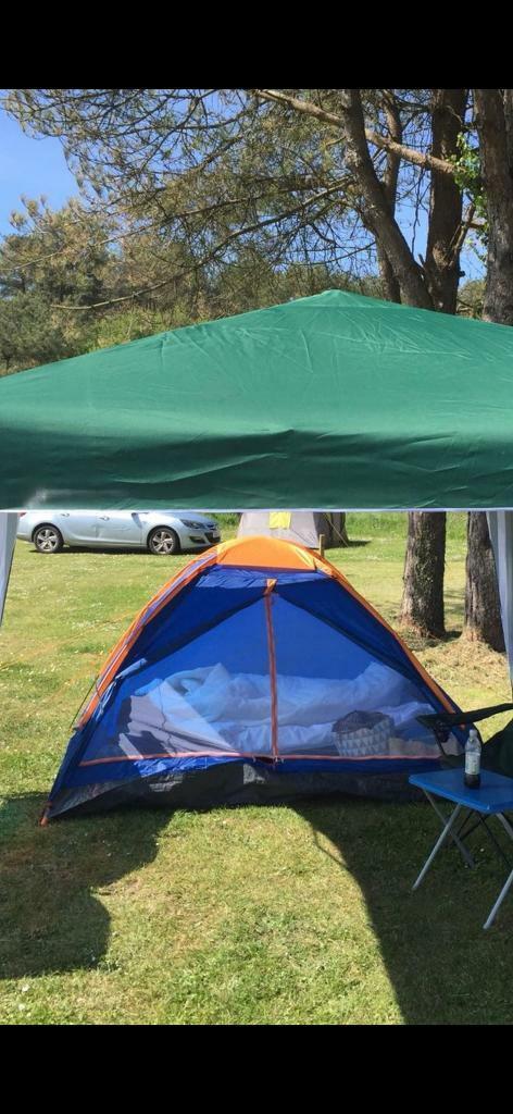 tesco 2 person single layer tent